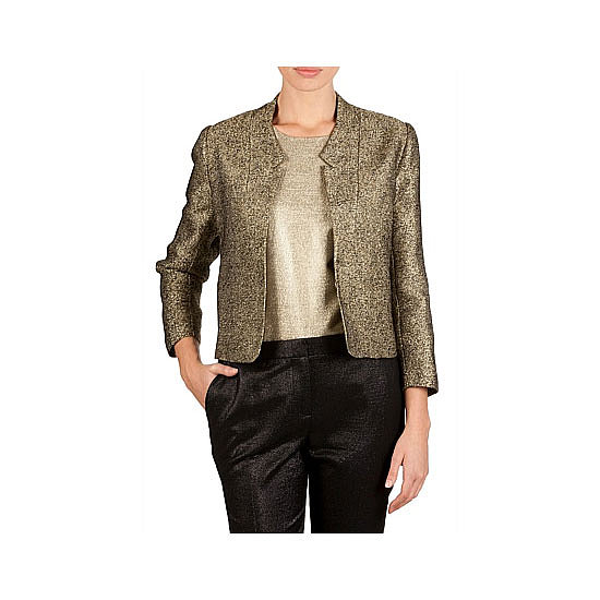 I saw quite a few metallic jackets (particularly of the bomber variety) in street style snaps from MBFWA and have decided to add one to my wardrobe because a) they're more interesting than my black blazer, b) add something special to nighttime looks, and c) this gold one will go with most things I own. — Jess, celebrity and entertainment editor Jacket, $299, Country Road
