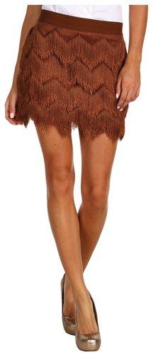 BCBGMAXAZRIA - Modie Fringe Skirt (Ginger) - Apparel