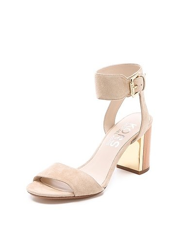 A metallic heel gives this KORS Michael Kors Lexa high-heel sandal ($275) a glamorous touch; just finish the look with a chic white dress and you're ready for your next rooftop party.