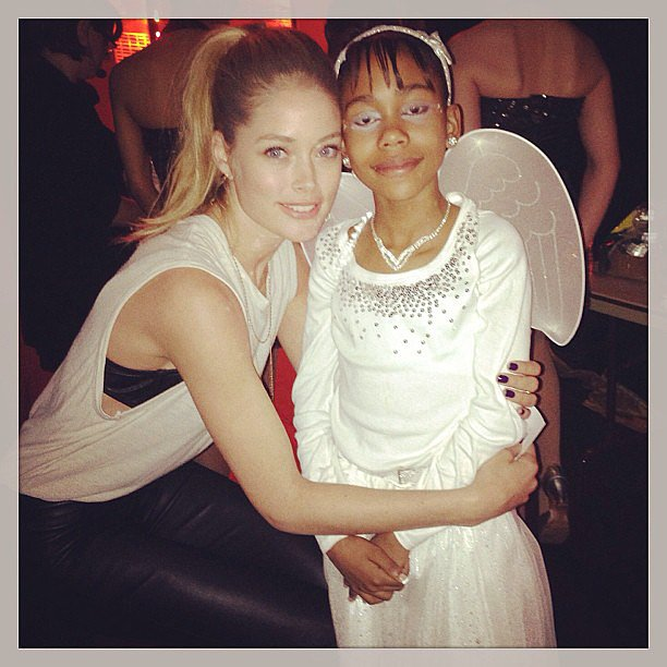 Doutzen Kroes posed with a young girl at an event for the Garden of Dreams Foundation. Source: Instagram user doutzenkroes1