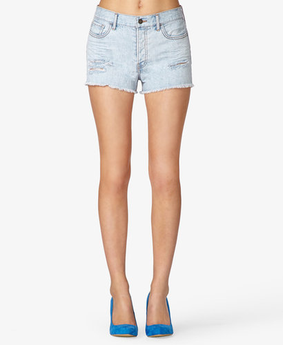 FOREVER 21 High-Waisted Distressed Cutoffs