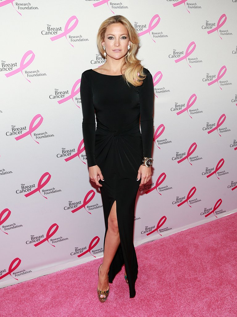 Kate Hudson stepped out in a sultry Ann Taylor gown at The Breast Cancer Research Foundation's annual Hot Pink Party fundraiser.