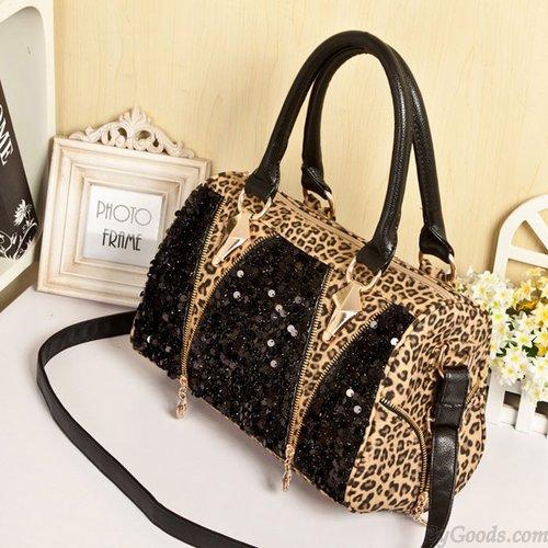 Sexy Sequined Leopard Handbag & Shoulder Bag just $32.90 only in ByGoods.com