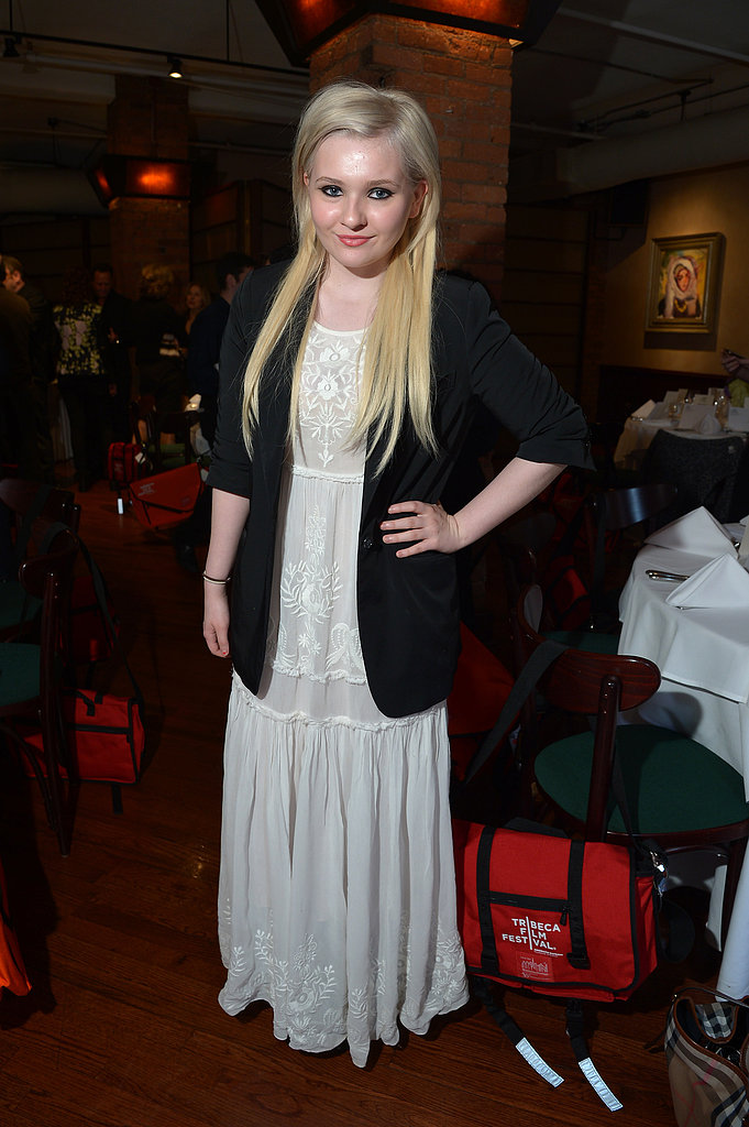 Abigail Breslin paired a black blazer with a white lace maxi dress at the juror welcome lunch.
