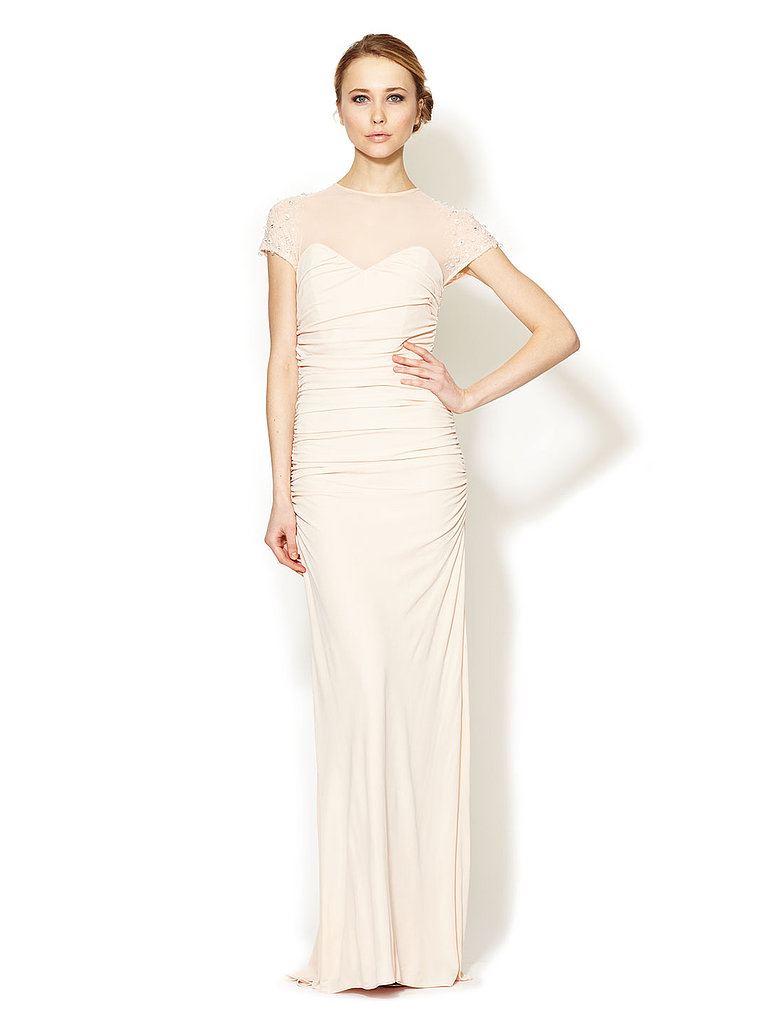 This Badgley Mischka Collection beaded gown ($399, originally $740) features gorgeous detail.