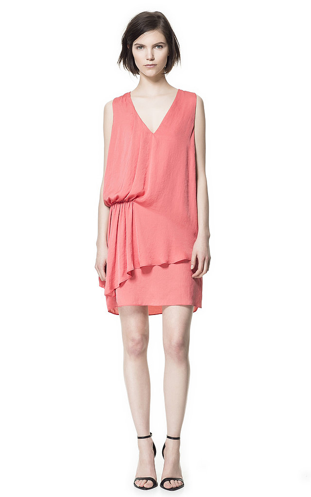Zara's Side-Pleat Dress ($70) is feminine, romantic, and a great pick for day or night.