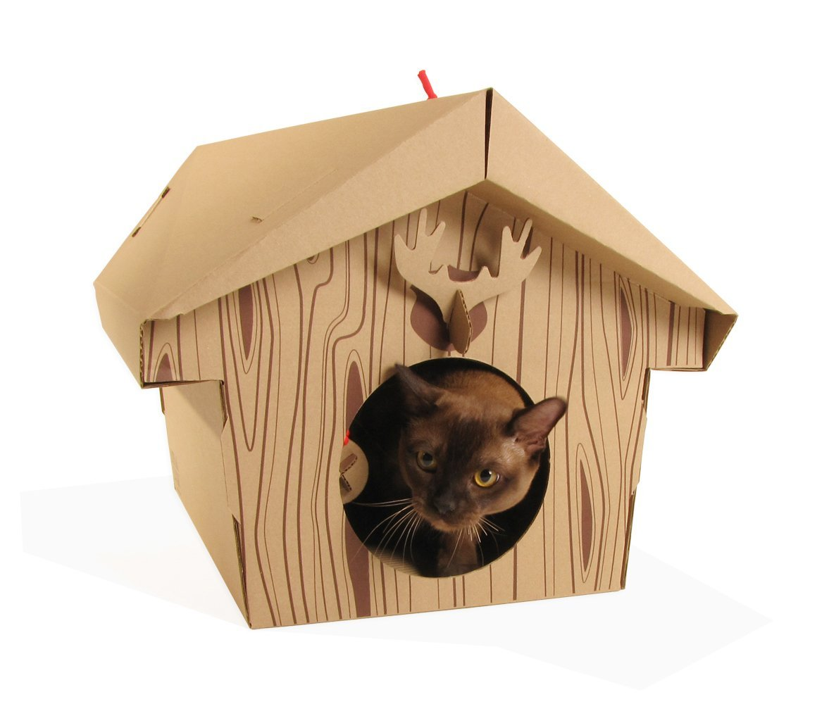 Cardboard Canadian Cabin For Fluffy Critters