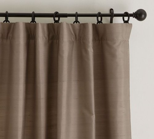 Dupioni Silk Pole Pocket Drape