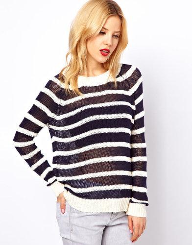 Mango Slub Stripe Sweater