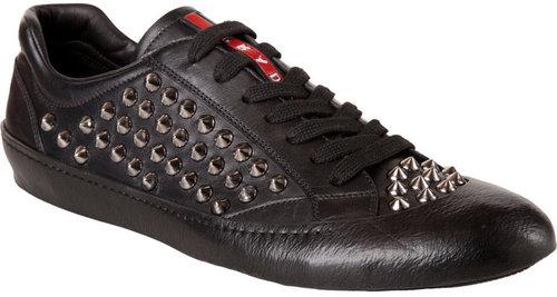 Prada Studded Overlay Sneaker