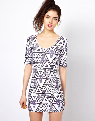 Bambam Body-Conscious Dress in Circus Print