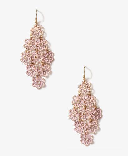 FOREVER 21 Painted Flower Charm Earrings