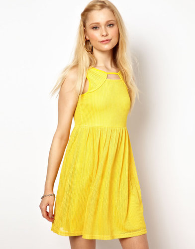 River Island Chelsea Girl Cut Out Skater Dress