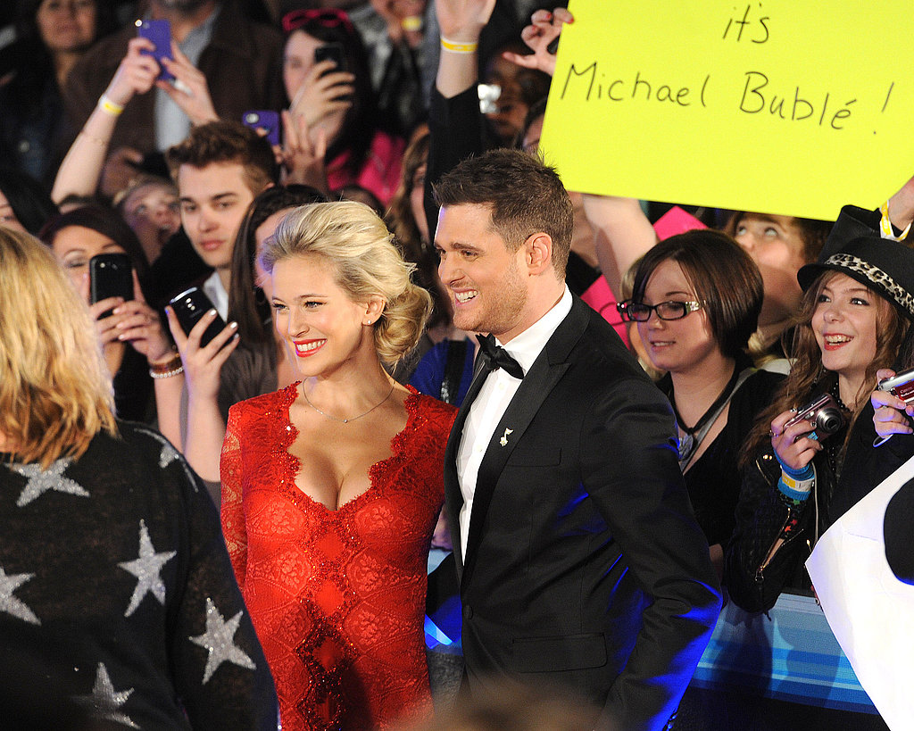 Michael Bublé and his pregnant wife, Luisana Lopilato, attended the Juno Awards in Canada.