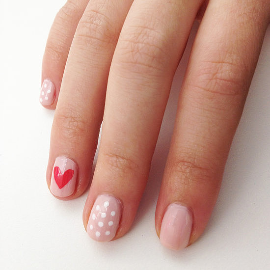 We heart nail art, which is why we love this supereasy way to create the perfect heart nail design using tape.