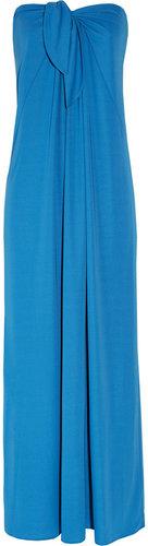 Halston Heritage Strapless crepe maxi dress