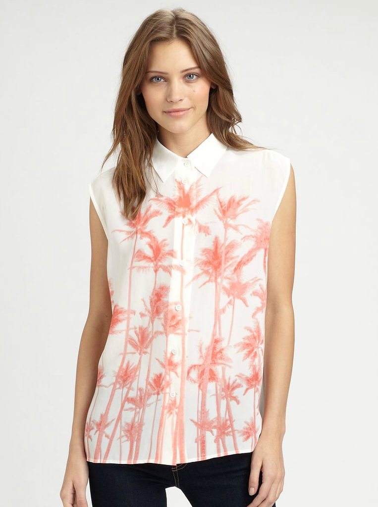 We love the West Coast palm-tree print on this Equipment Printed Silk Shirt ($164, originally $218).