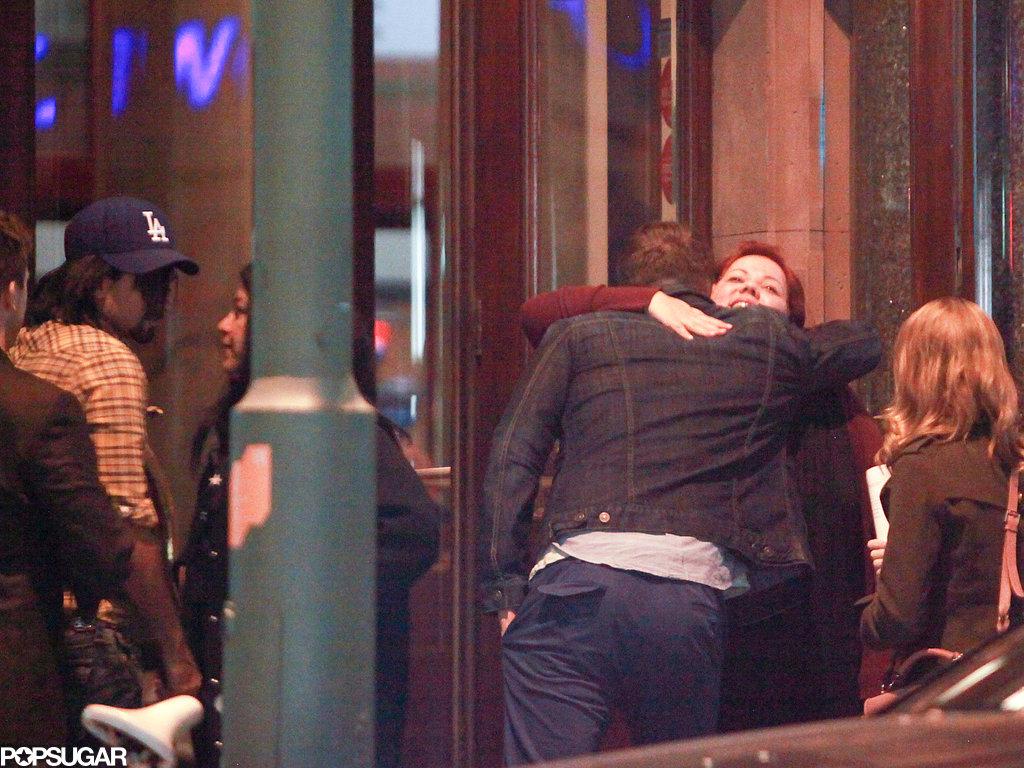 Ryan Reynolds hugged a friend.