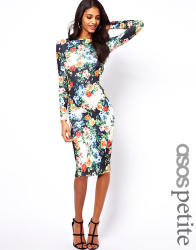 ASOS PETITE Exclusive Body-Conscious Dress In Floral Print
