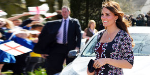 Kate Middleton Shows Off Her Baby Bump in Floral Erdem