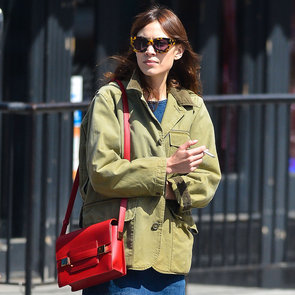 Alexa Chung Carrying Red Bag   Pictures