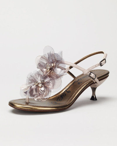 Lanvin Plastic Flower-Strap Sandal