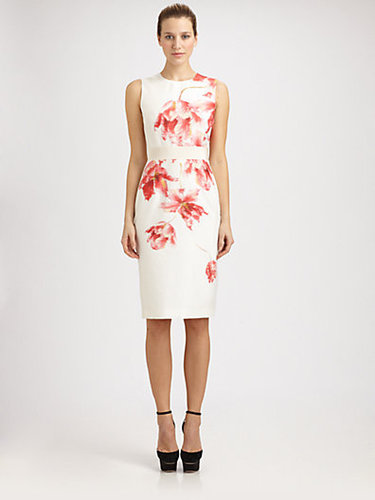 Giambattista Valli Silk Floral Dress
