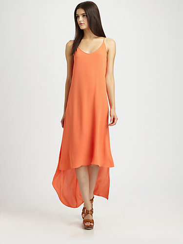 BCBGMAXAZRIA Rory Hi-Lo Chiffon Dress