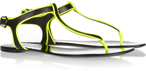 Casadei Neon-trimmed leather sandals