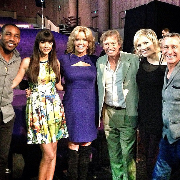 New Girl's Hannah Simone posed with the So You Think You Can Dance crew. Source: Instagram user adamshankman