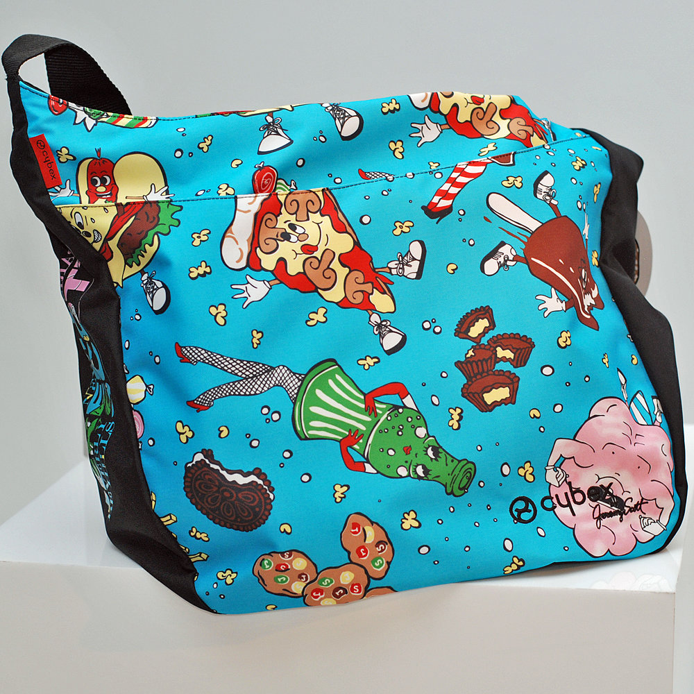 The Cybex by Jeremy Scott baby bag.