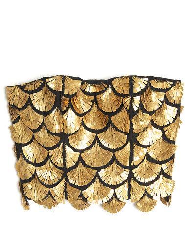 Altuzarra Binta Embroidered Bustier Top