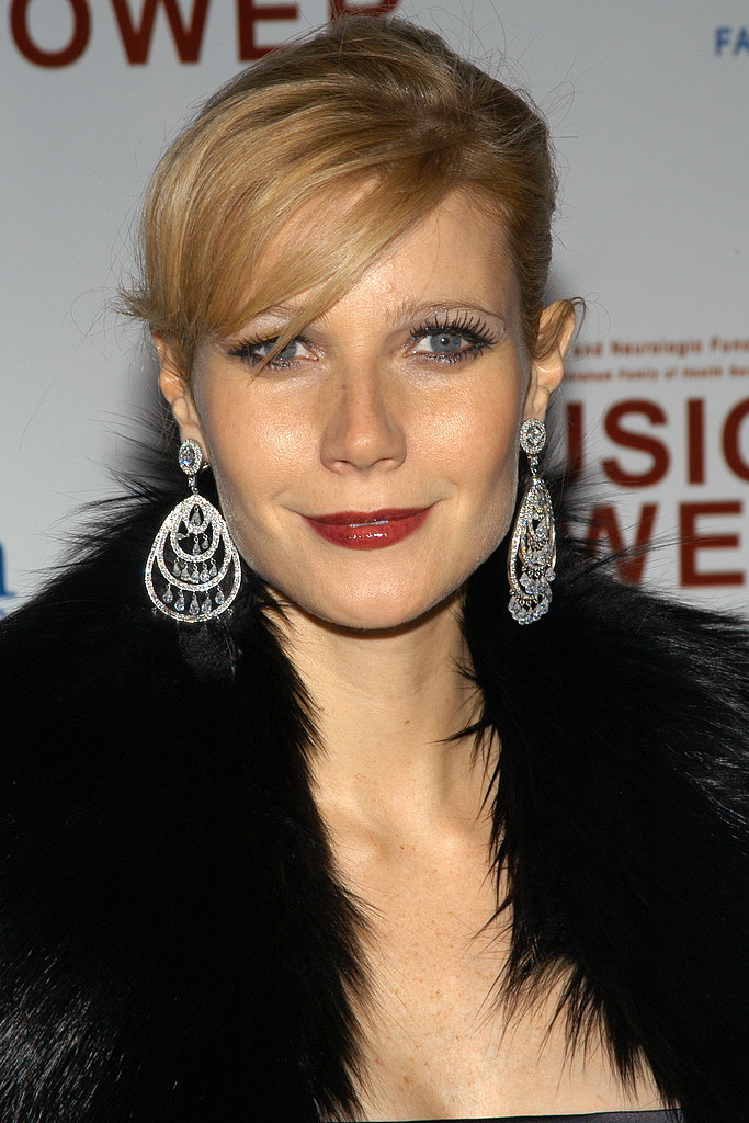 To host the 2003 Music Is Power event, Gwyneth went for full-on glamour. Deep red lips, extra long lashes, and side-swept bangs brought plenty of sex appeal.