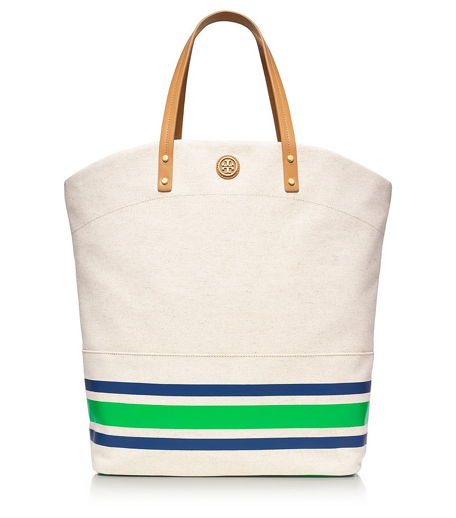 """Tory Burch's Theresa Tall Tote ($295) is the perfect """"errand"""" bag, ideal for trips to the farmers market and running around town."""