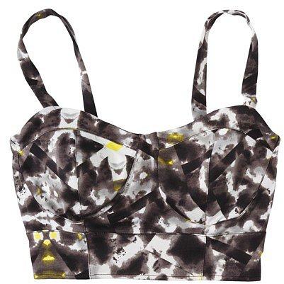 Mossimo® Women's Crop Tank Top -Black/White Print