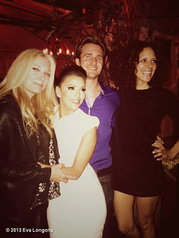 Eva Longoria partied with her Ready For Love co-hosts. Source: Eva Longoria on WhoSay