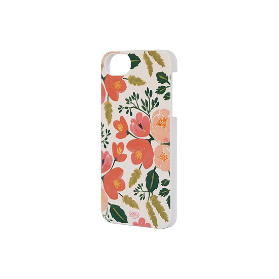 The company's signature pink-and-peach florals grace this Botanical Rose iPhone 5 Case ($32).