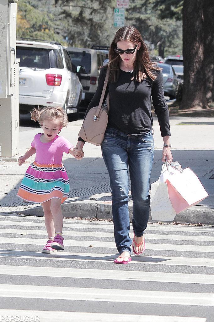 Jennifer Garner and Seraphina Affleck shopped in LA.
