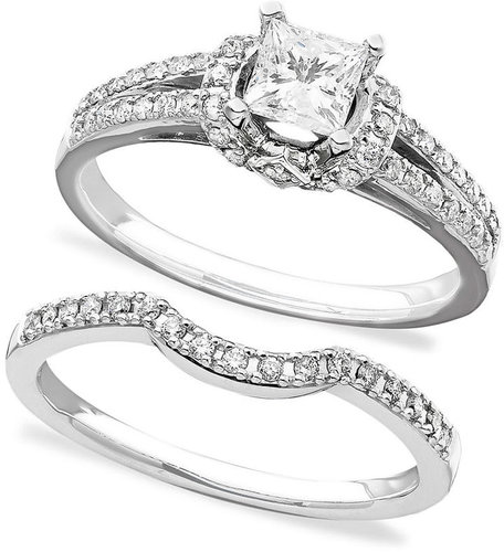 Macy's Engagement Ring and Wedding Band, 14k White Gold Diamond Bridal Set (3/4 ct. t.w.)