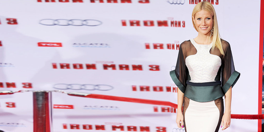 Gwyneth Paltrow Goes (Very) Sheer at the Iron Man 3 Premiere in LA