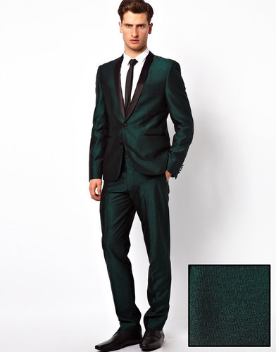 ASOS Slim Fit Suit Pants in Tonic