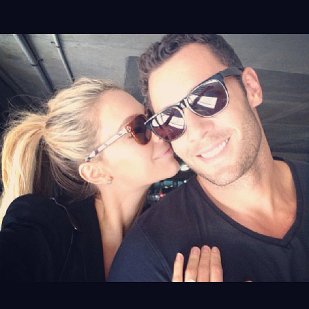 Jennifer Hawkins and Jake Wall enjoyed a movie date. Source: Instagram user jenhawkins_