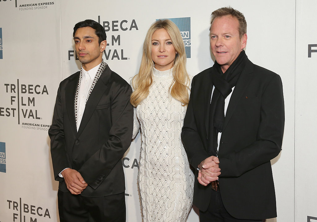 Riz Ahmed, Kate Hudson and Kiefer Sutherland made a monochromatic trio at a screening of The Reluctant Fundamentalist at the Tribeca Film Festival on April 22.