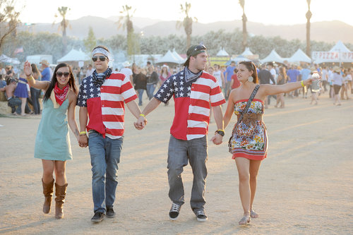 Two couples showed their patriotic flair at Stagecoach.