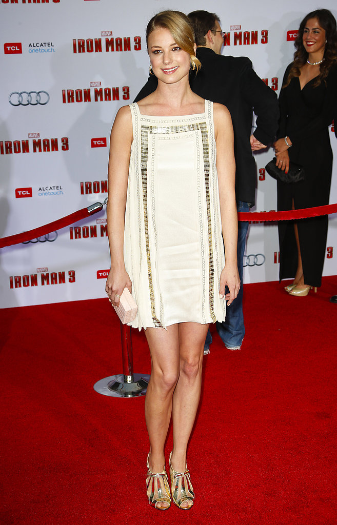 Emily VanCamp wore Temperley London at the Iron Man 3 premiere in Los Angeles.