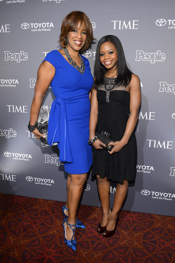 Gayle King caught up with Gabby Douglas on the People and Time red carpet.