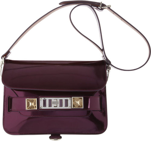 Proenza Schouler PS11 Mini Classic Mirrored Leather