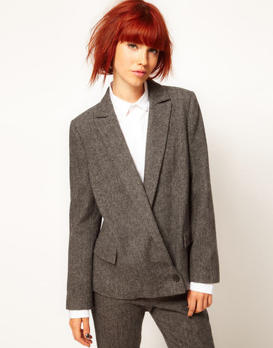 Chalayan Grey Line Chalayan Gray Line Zip Back Blazer