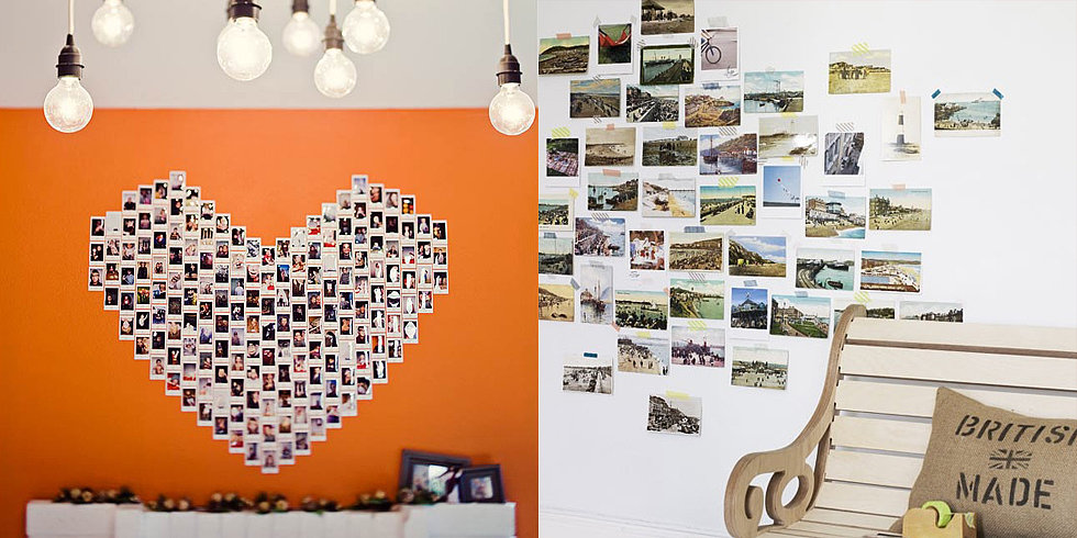 ... Wall Collage Without Frames:  30 New Creative Ways to Display Photos