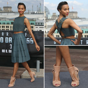 Star Trek Star Zoe Saldana in Calvin Klein from all Angles!